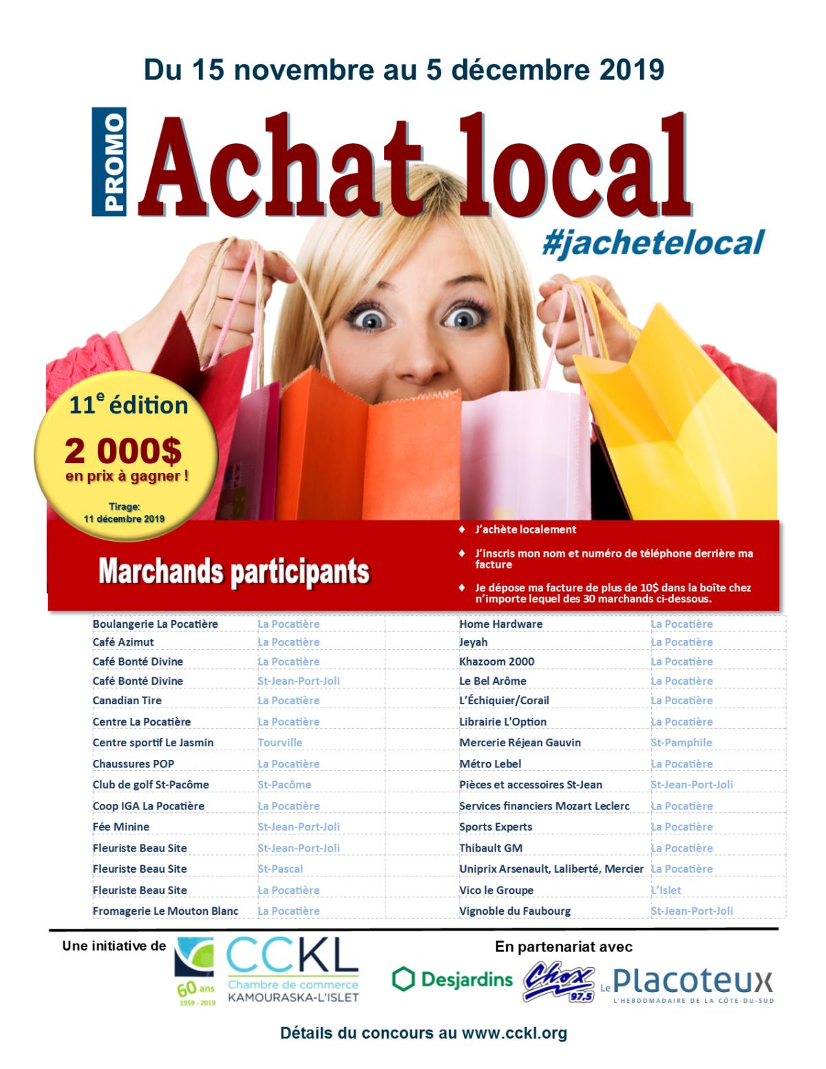 Lancement de la campagne d'achat local par la Chambre de commerce Kamouraska-L'Islet